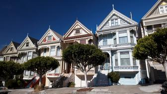 United States, California, San Francisco: Victorian houses (Painted Ladies) bordering Alamo Square. (Photo by: Andia/UIG via Getty Images)