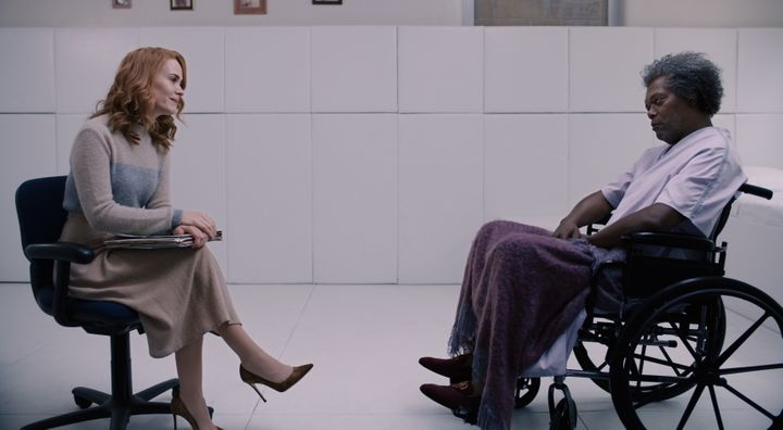 "Sarah Paulson and Samuel L. Jackson in ""Glass."""