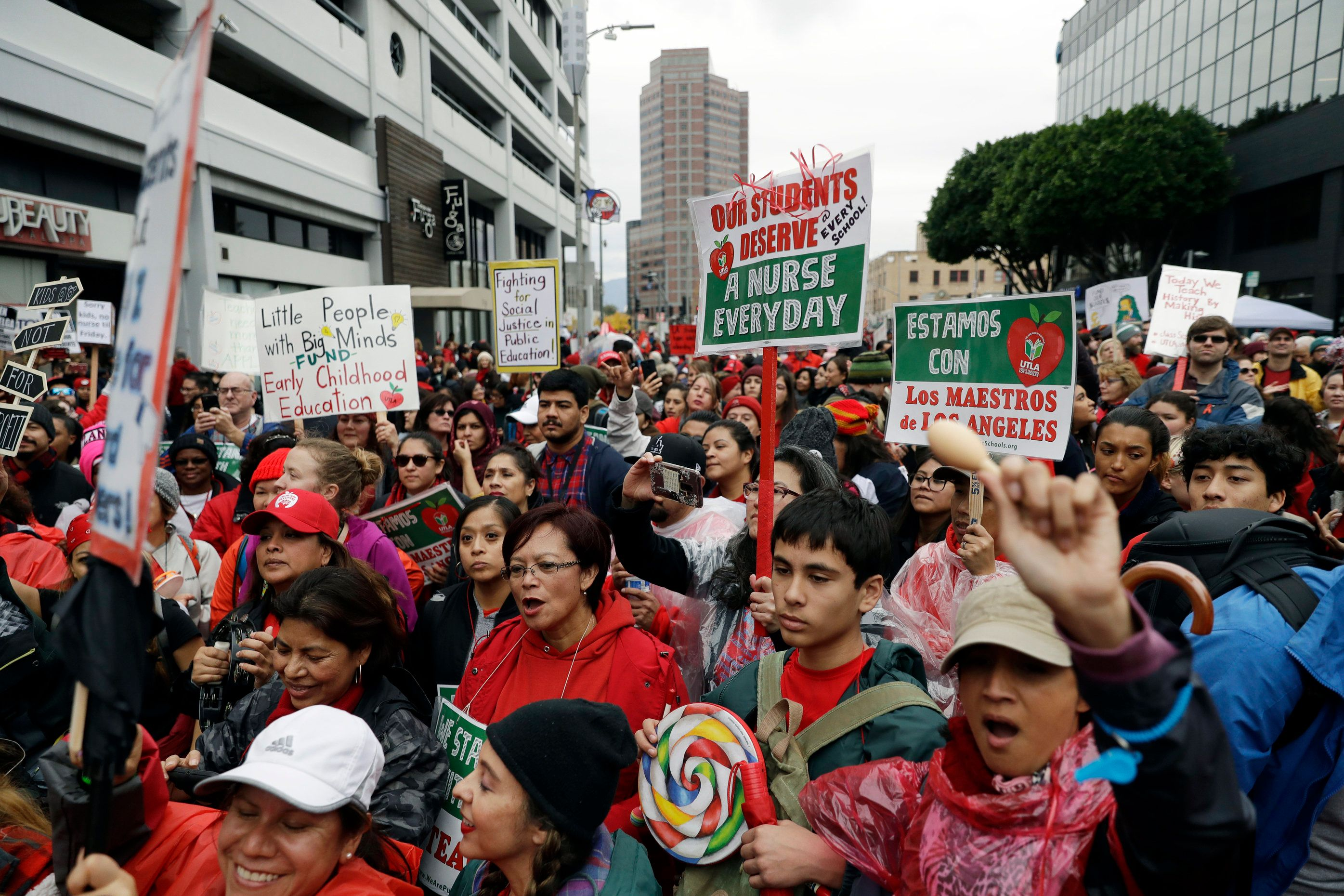 The Los Angeles Teachers Strike Puts Charter Schools Under The Microscope