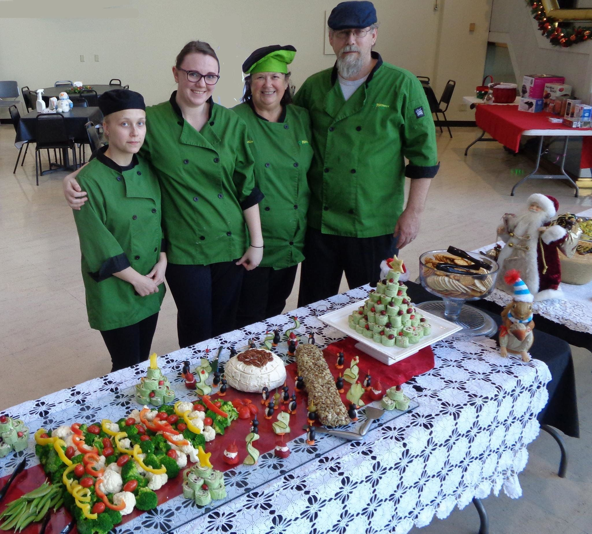The Parsnipity Cafe has seen a steep drop in business since the shutdown began. From left to right: Rebekah Love, chef; Lydia Lett, hostess; Cynthia Wilson and Craig Bjork, owners.