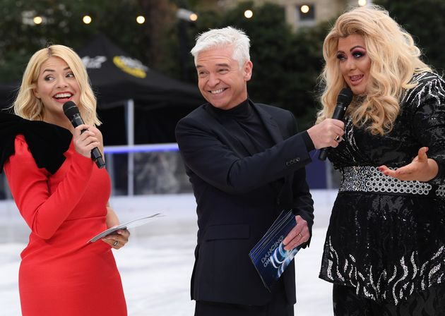 Gemma Collins with Holly Willoughby and Phillip