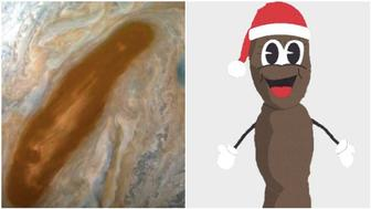 Brown spot on jupiter/Mr Hankey