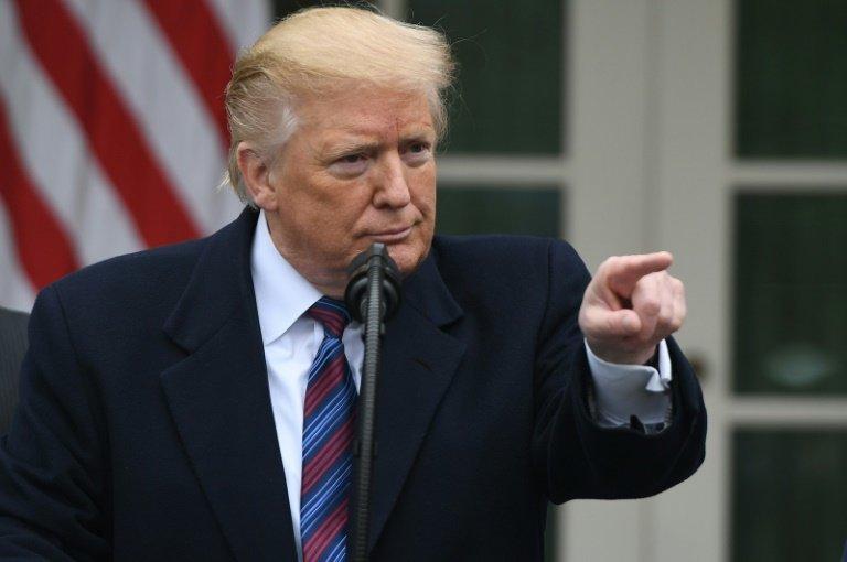 O presidente americano, Donald Trump, durante coletiva de imprensa em Washington DC, em 4 de janeiro de 2019