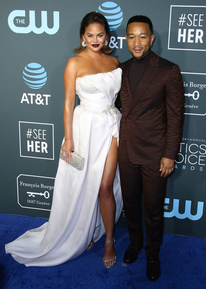 Chrissy Teigen and John Legend at the 24th Annual Critics' Choice Awards on Jan. 13, 2019, in Santa Monica.
