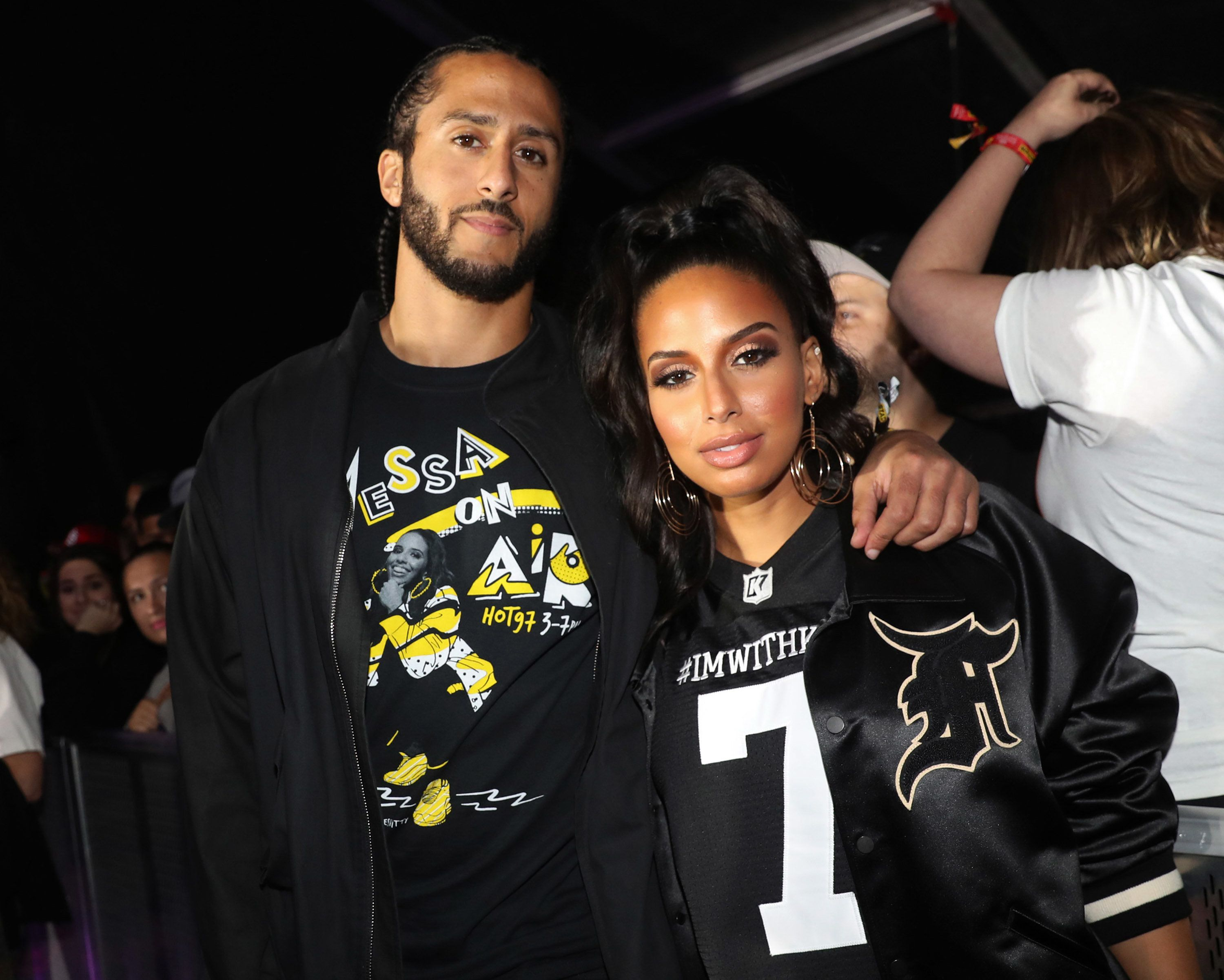 EAST RUTHERFORD, NJ - JUNE 10:  Colin Kaepernick (L) and Nessa attend Summer Jam 2018 at MetLife Stadium on June 10, 2018 in East Rutherford, New Jersey.  (Photo by Johnny Nunez/WireImage)