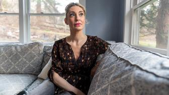 WAYNE, PENNSYLVANIA: JAN 10, 2019 Sarah Klein, an attorney, in her Wayne, Pennsylvania home on January 10, 2019. She is the first known victim of former Olympic Women's Gymnastic Team doctor Larry Nassar and an advocate for victims of sexual abuse. (Jessica Kourkounis)