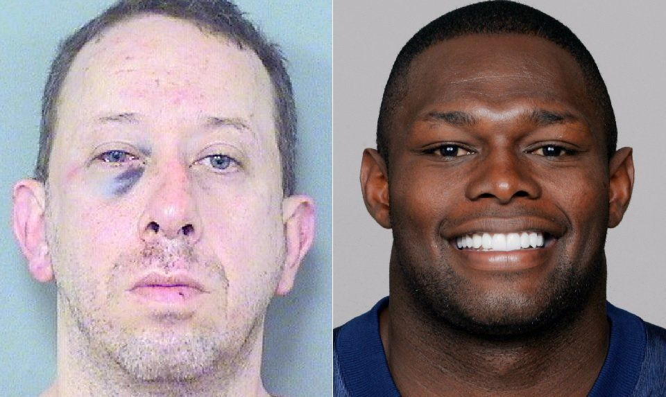 Geoffrey Cassidy (left) received a beating after ex-NFL defensive back Tony Beckham (right) allegedly caught him masturbating