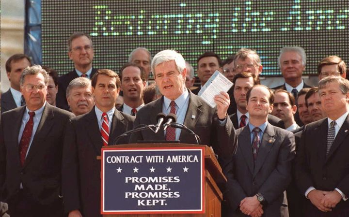 Former Speaker of the House Newt Gingrich (R-Ga.) dramatically cut Congress' budget when he took office in 1995.