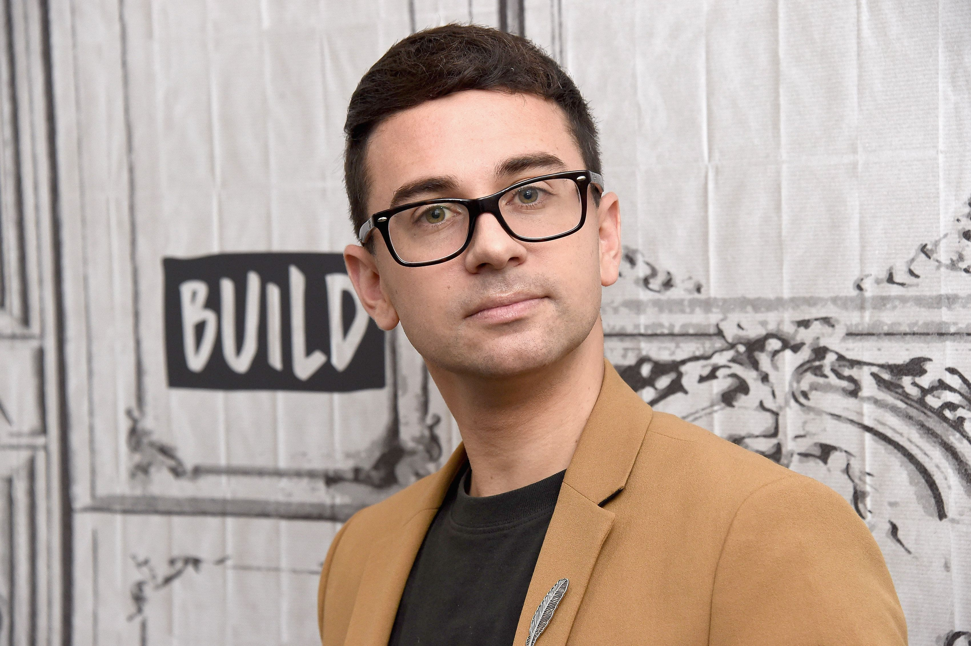 NEW YORK, NY - OCTOBER 02:  Fashion designer Christian Siriano visits Build Series to discuss the 'Check Your Sweat' campaign at Build Studio on October 2, 2018 in New York City.  (Photo by Gary Gershoff/WireImage)