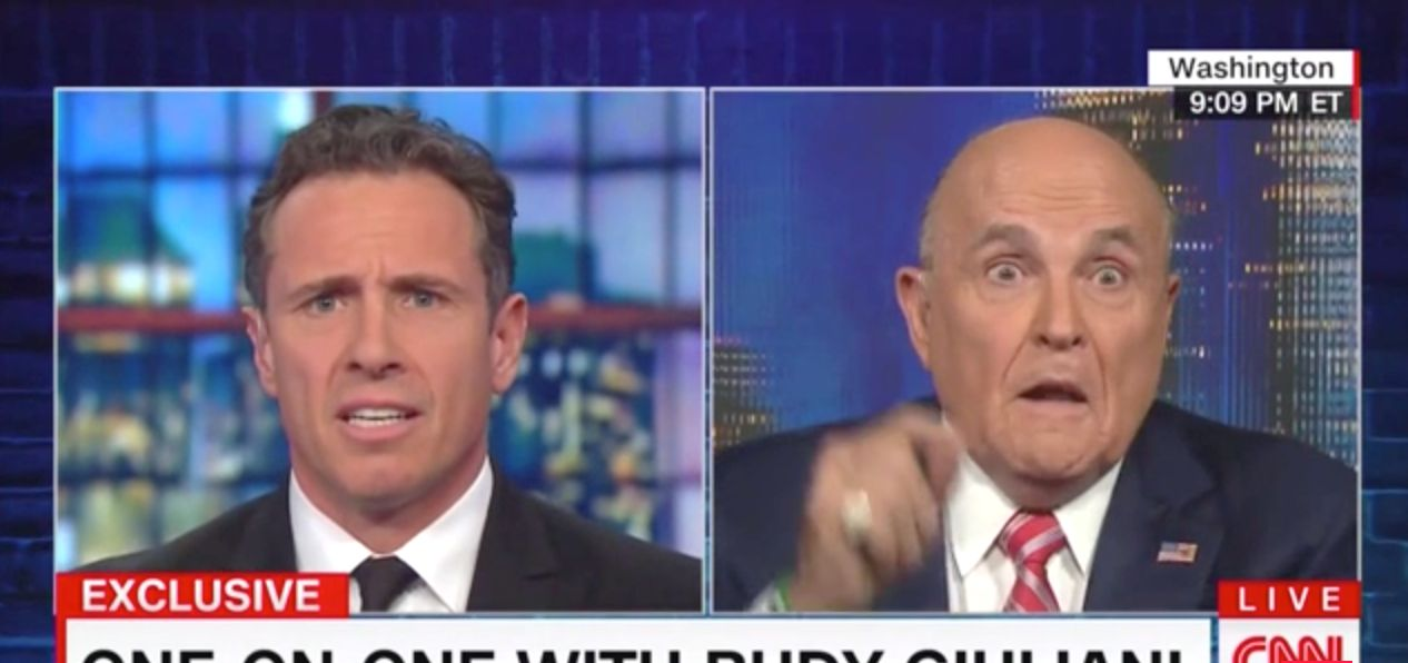 Rudy Giuliani Gets Heated With Chris Cuomo 'I Never Said There Was No Collusion'