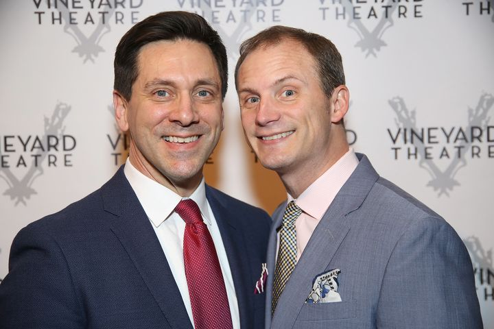 "Berresse (left) and his husband, Jeff Bowen, collaborated on the musicals ""[title of show]"" and ""Now. Here. This."""