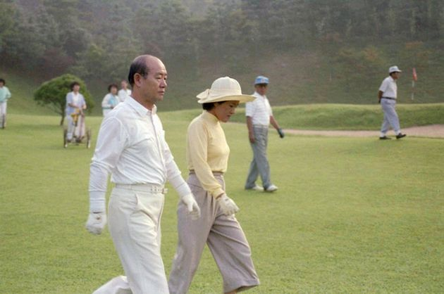 1987년 골프를 즐기고 있는 전두환 전 대통령