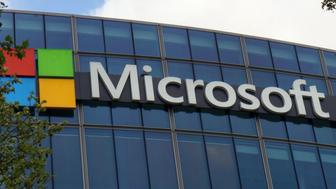 The French headquarters of Microsoft Corp. in Issy-les-Moulineaux, outside Paris, Saturday April 15, 2017. Microsoft says the recent dump of purported National Security Agency spying tools doesn't affect up-to-date users of Windows, puncturing claims that the digital arsenal was poised to create chaos across the internet. (AP Photo/Raphael Satter)
