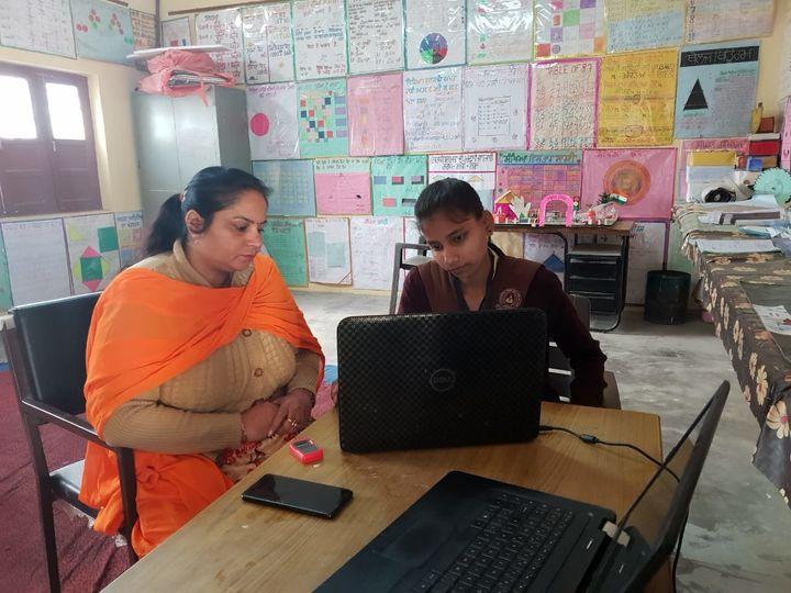 PMGDISHA exam in progress at a government school at village Jamsher Khas in Jalandhar district of Punjab.