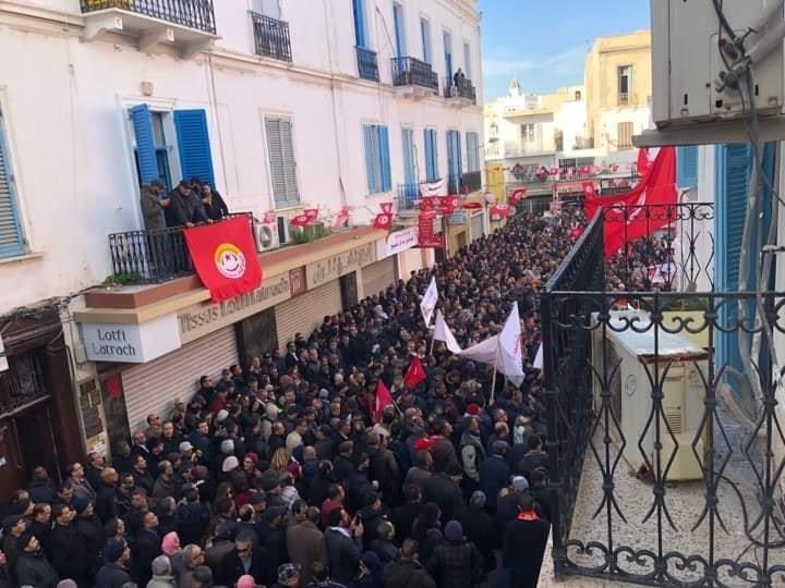 Large participation à la grève générale de la fonction publique et du service