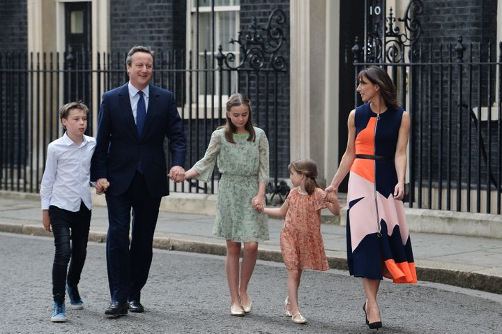 <strong>The Camerons entering Downing Street after the 2015 election</strong>&#8220;> </p> <p> <span class=