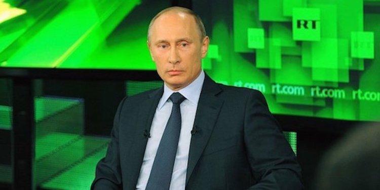 Vladimir Putin appearing on