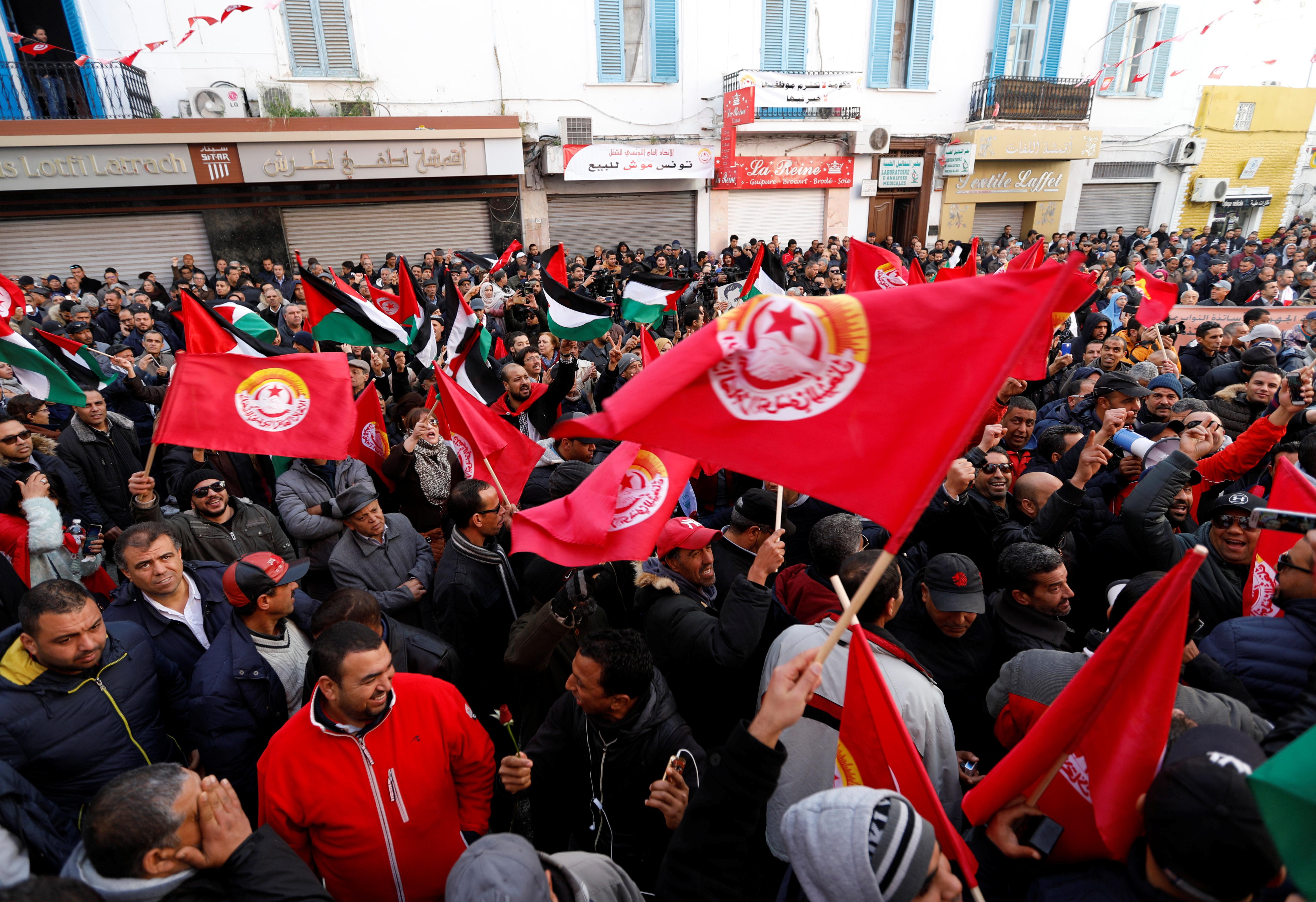 Le déroulement de la grève générale dans différents gouvernorats du