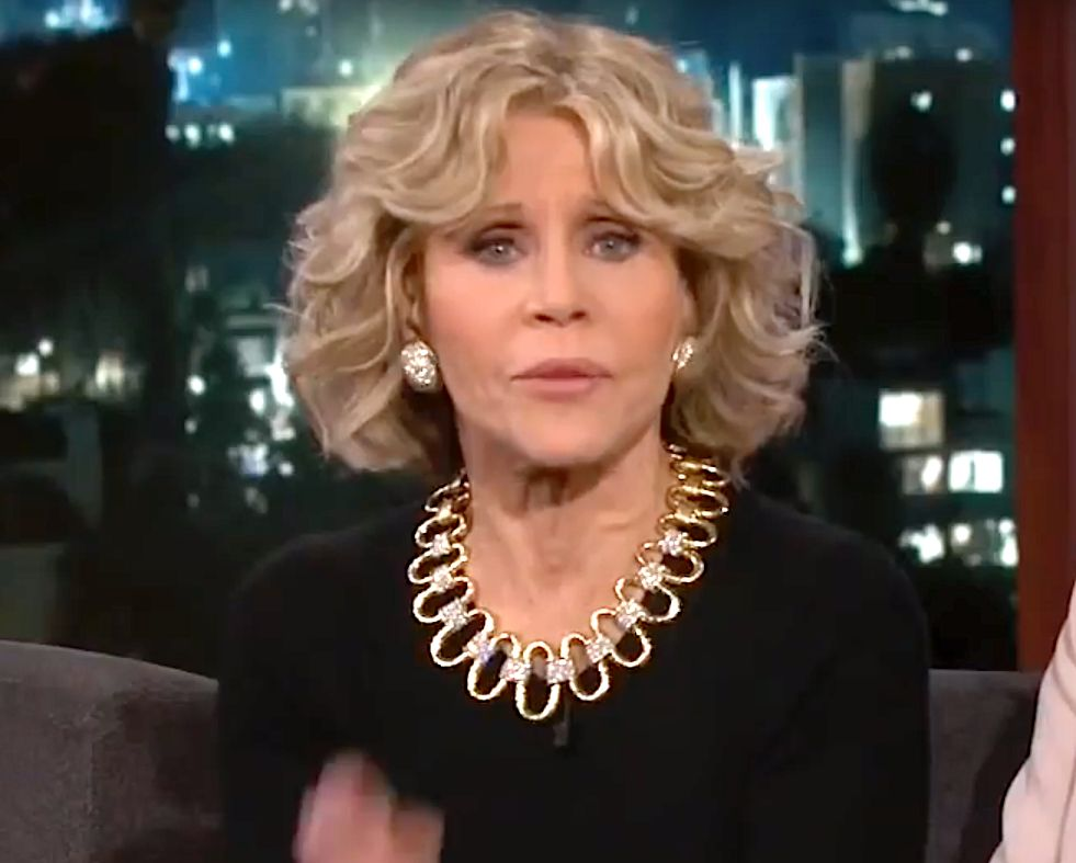 Jane Fonda Makes Jimmy Kimmel 'Nervous' With Call For