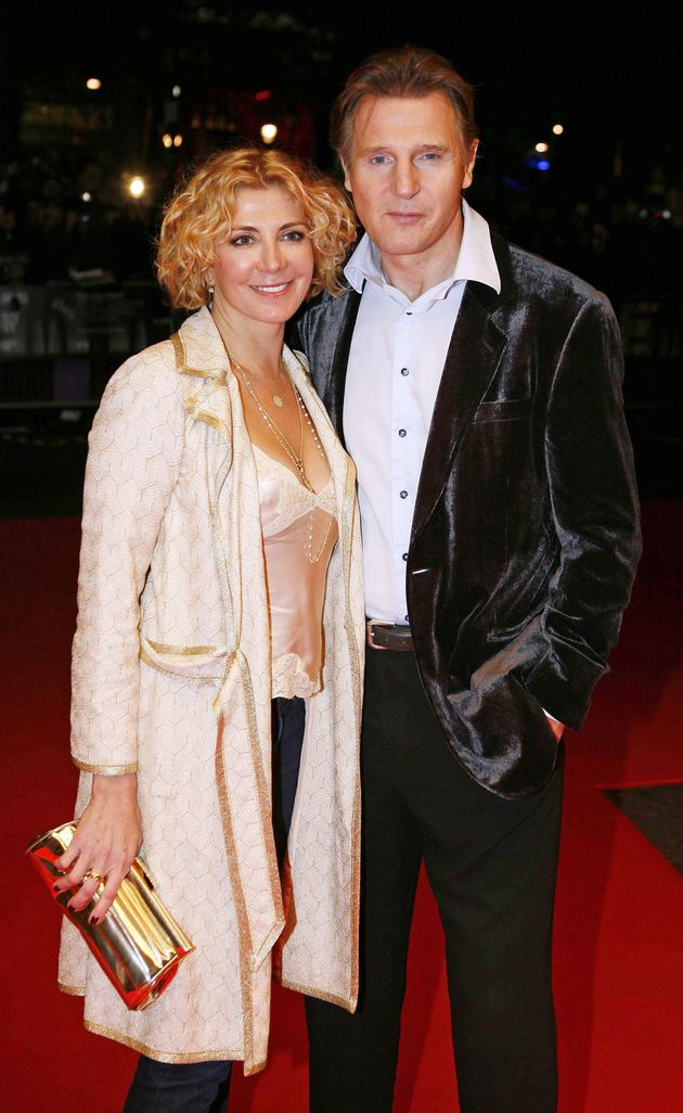 Liam with late wife Natasha Richardson, who died nearly 10 years