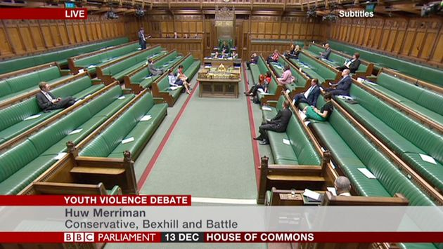 Empty house during debate about youth