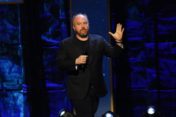 """Louis C.K. faced scrutiny for <a href=""""https://www.huffingtonpost.com/entry/louis-ck-finally-responds-to-longstanding-stories-of-sexual-misconduct_us_5a05c6dfe4b0e37d2f372d70"""" target=""""_blank"""" rel=""""noopener noreferrer"""">masturbating in front of female comedians</a>, which he admitted to amid the Me Too movement."""