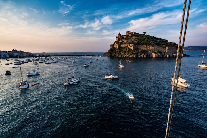Ischia is a volcanic island in the Gulf of Naples.