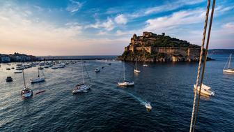 Castello Aragonese. Ischia. Campania. Italy. (Photo by: Marka/UIG via Getty Images)