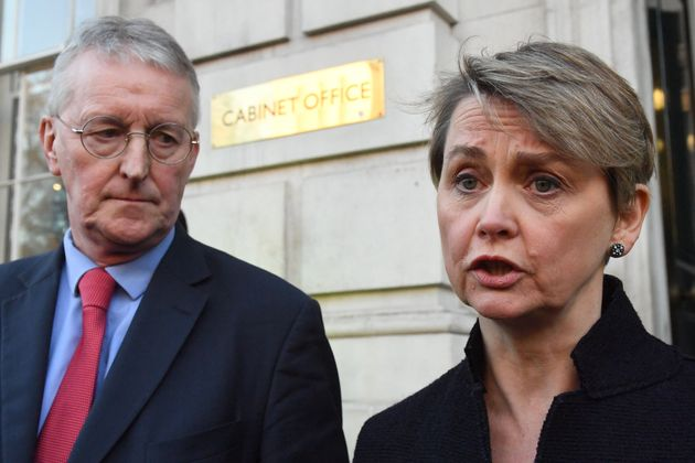 Hilary Benn and Yvette Cooper were at No 10 for talks with the