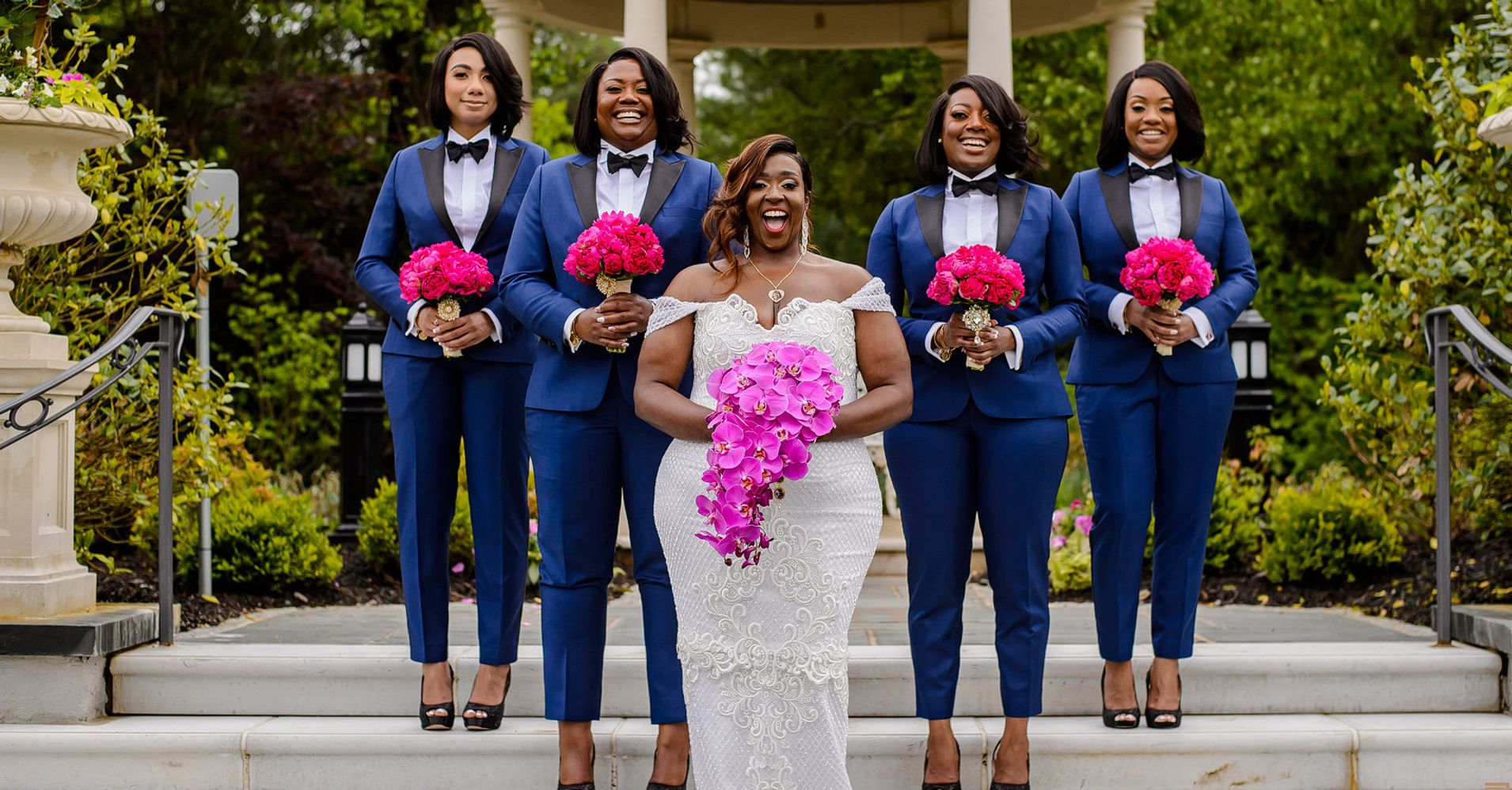 19b0bd3419 14 Photos Of Bridesmaids Rocking Pants And Looking Chic As Hell ...