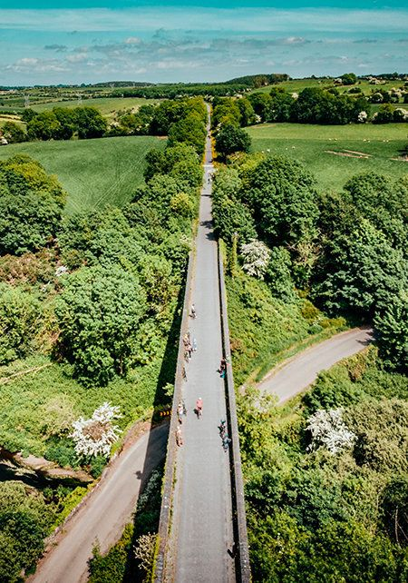 View from abovetheWaterford Greenway.