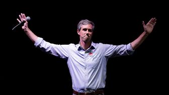 U.S. Rep. Beto O'Rourke, the 2018 Democratic Candidate for U.S. Senate in Texas, makes his concession speech at his election night party, Tuesday, Nov. 6, 2018, in El Paso, Texas. (AP Photo/Eric Gay)