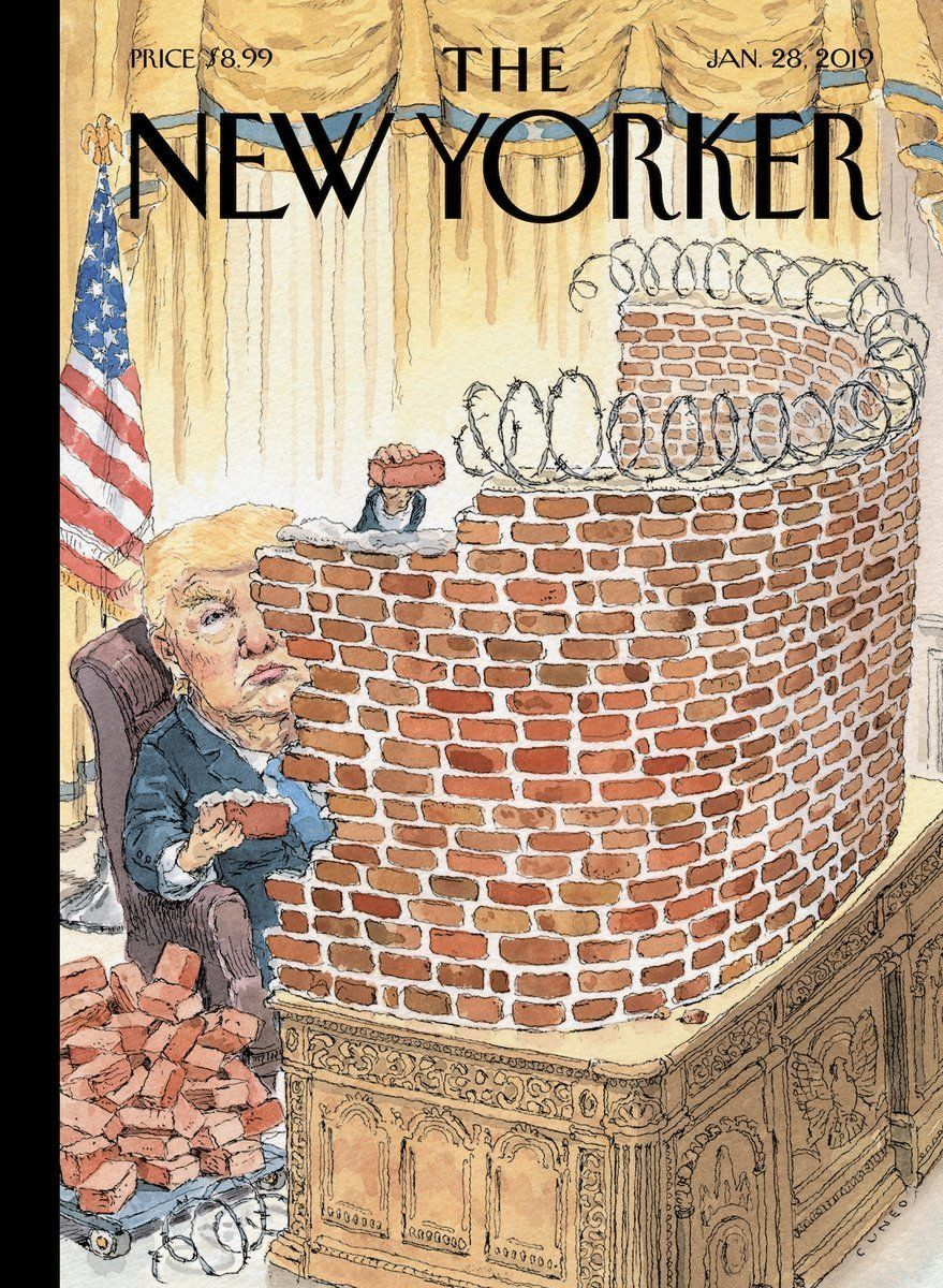 Donald Trump walls himself in.
