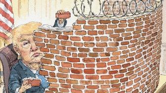 Donald Trump walls himself in.