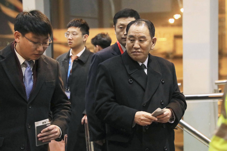워싱턴 도착한 북한 김영철이 18일 폼페이오와 회담을