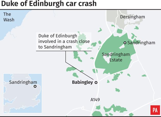 Prince Philip Car Crash: Duke Of Edinburgh 'Shocked But Not Hurt' After Accident While Driving Near