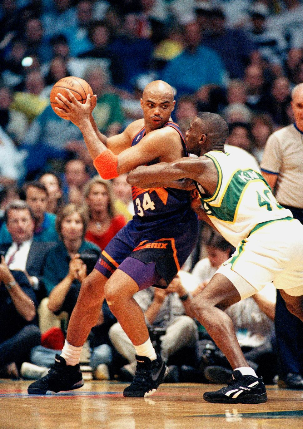 "Charles Barkley's tendency to methodically back his opponents down beneath the basket prompted what was known as ""The Barkley"