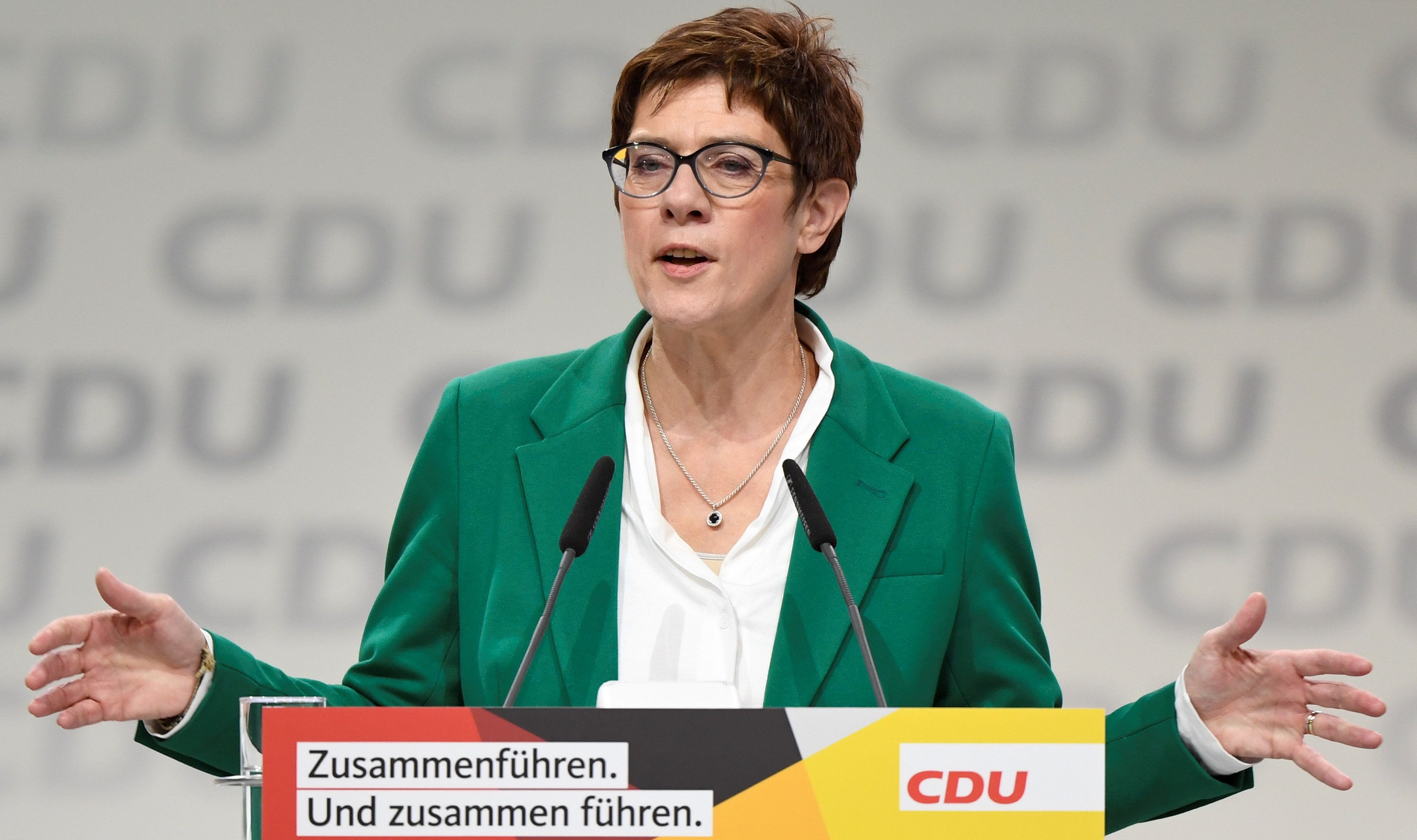 Annegret Kramp-Karrenbauer was a key signatory of the letter from German