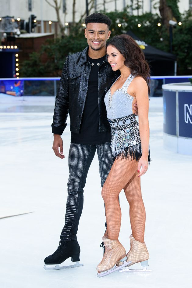Wes and Vanessa at this year's 'Dancing On Ice'