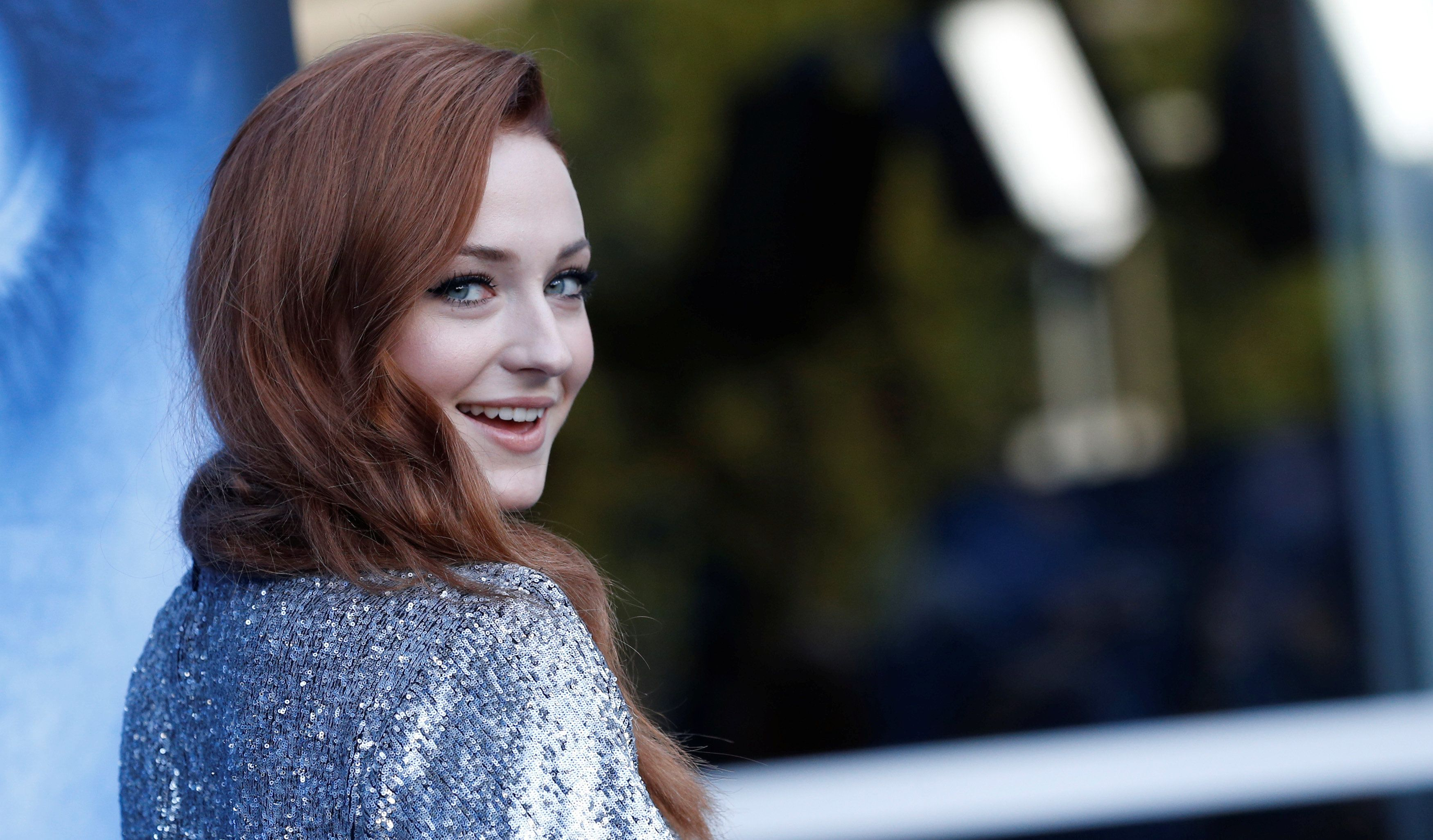 "Sophie Turner poses at a premiere for season 7 of the television series ""Game of Thrones"" in Los Angeles on July 12, 2017.&nb"