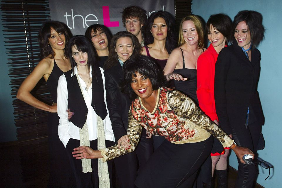 Cast members Jennifer Beals, Pam Grier, Erin Daniels, Leisha Hailey, Laurel Holloman, Mia Kirshner, Karina...