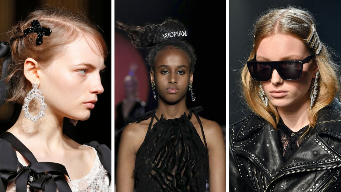 Hair clips as seen on the runway at Simone Rocha, Ashley Williams and Zadig & Voltaire.