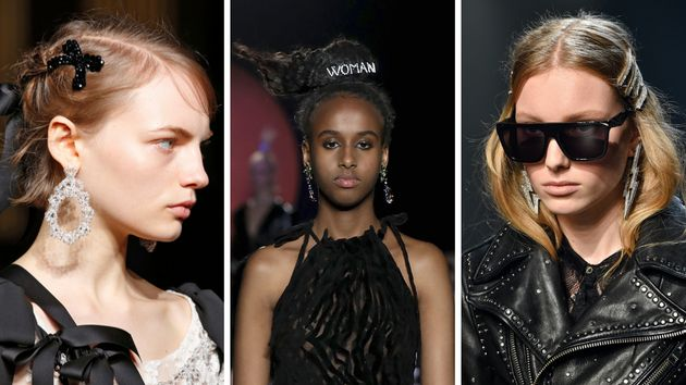 Hair clips as seen on the runway at Simone Rocha, Ashley Williams and Zadig &