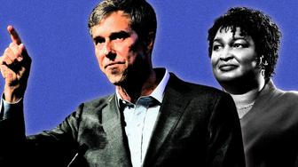 Democrats Beto O'Rourke and Stacey Abrams both ran their Republican rivals close in the 2018 midterms (Yahoo News)
