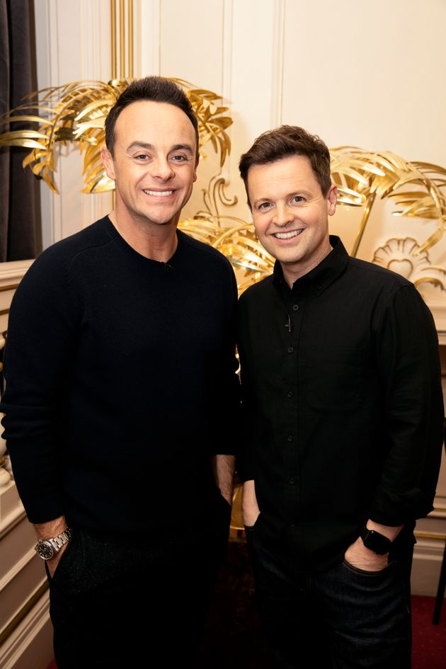 The newly-reunited Ant and Dec at the 'BGT'
