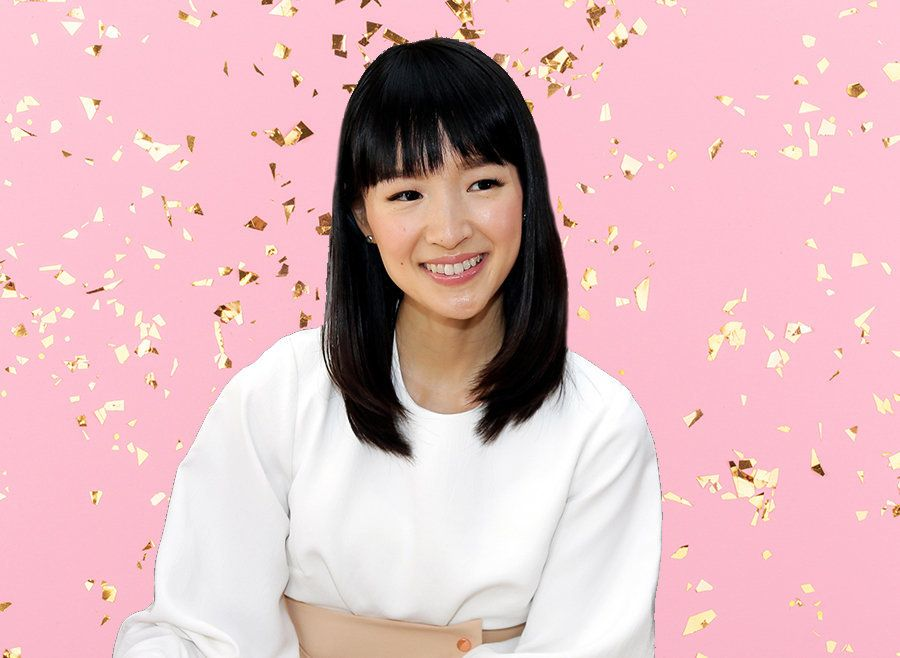 "Marie Kondo encourages people to consider whether their possessions ""spark joy."""