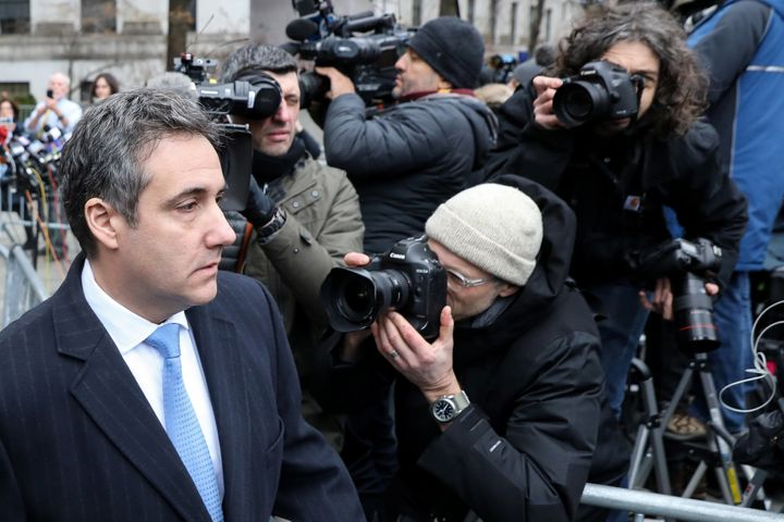 Michael Cohen, Trump's former personal attorney, in New York City, Dec. 12, 2018, after being sentenced to three years in pri
