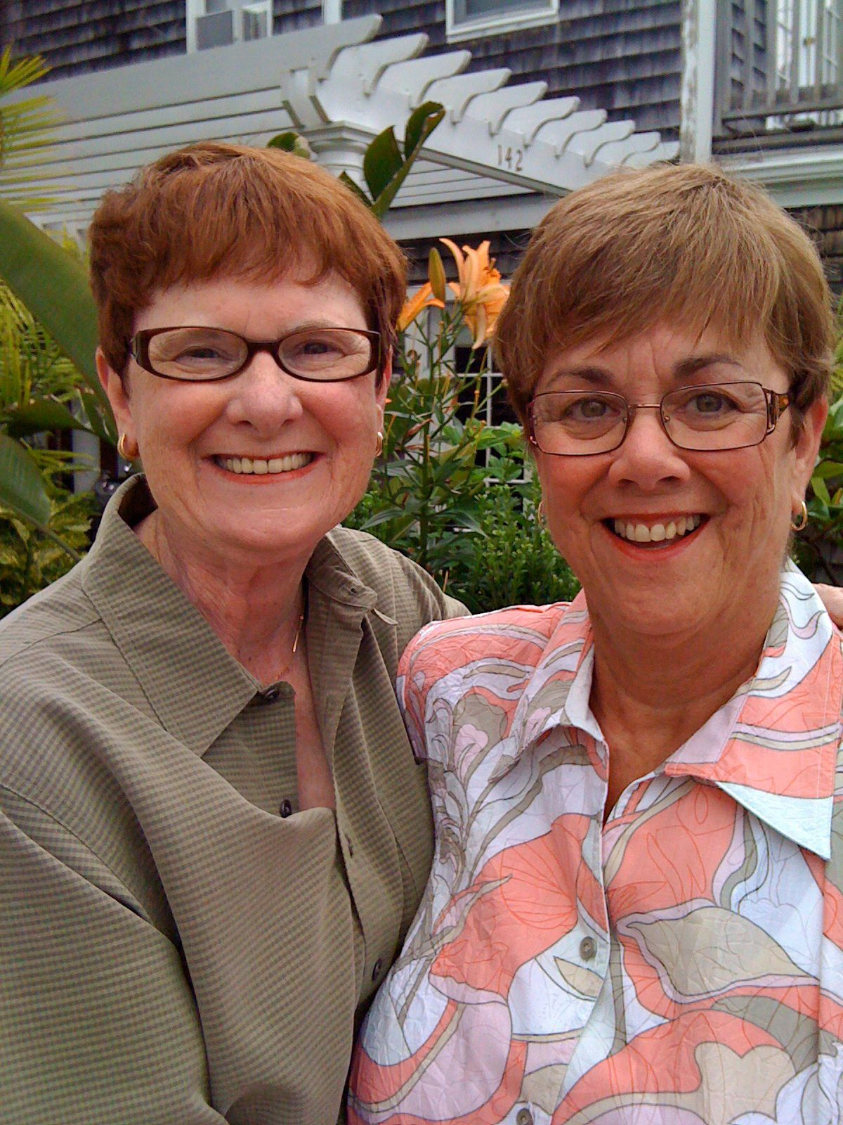Mary Walsh (left) and Bev Nance at their 2009 wedding in Provincetown, Massachusetts.