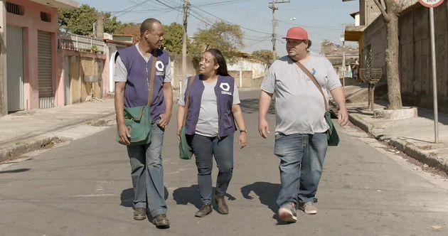Hélio Ricardo, Grace Passô e Russo Apr (vencedor do prêmio de Melhor Ator Coadjuvante...