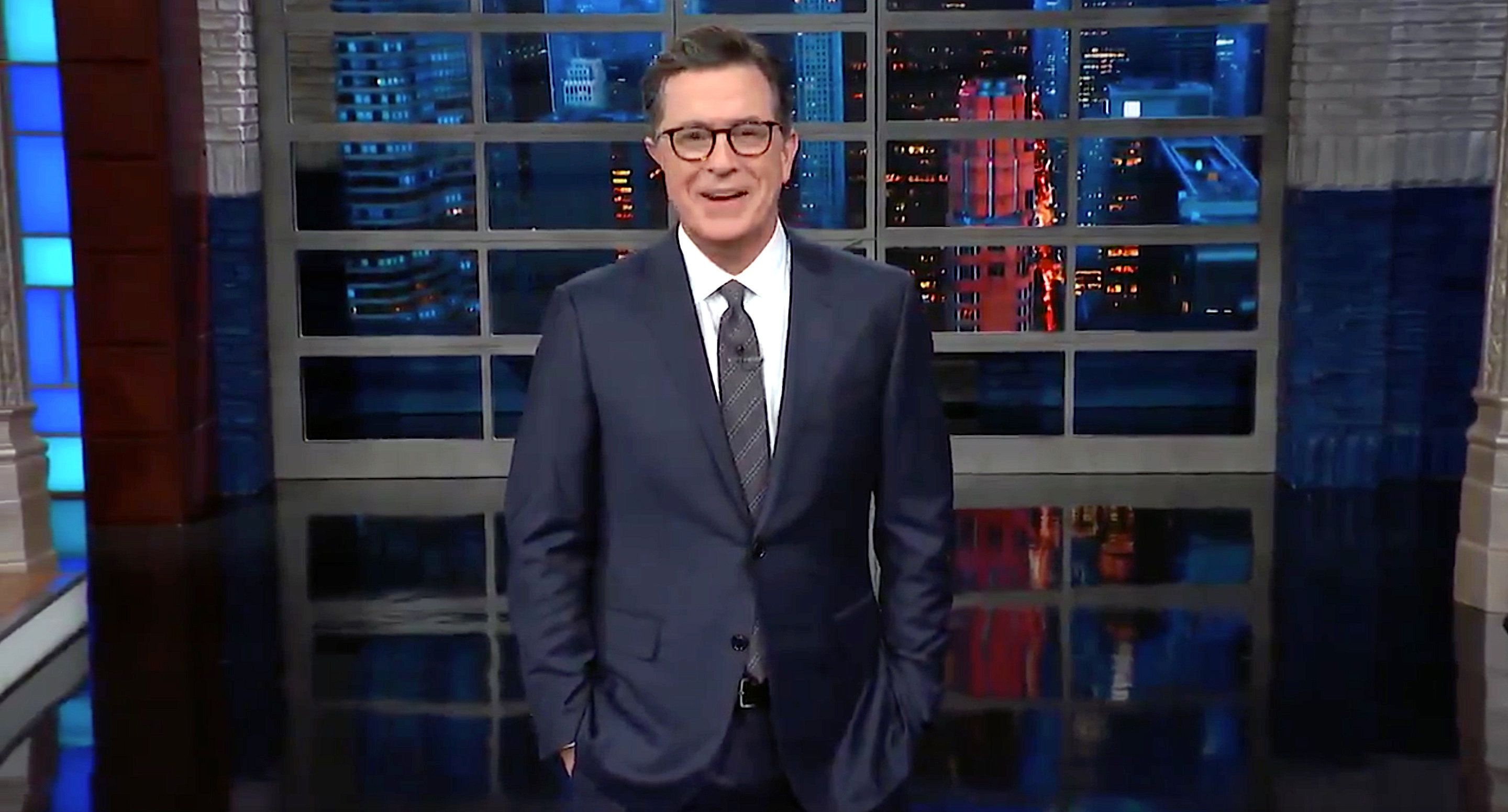 Westlake Legal Group 5c42af152600005901faebff Stephen Colbert Claps Back at Fox News And MSNBC.